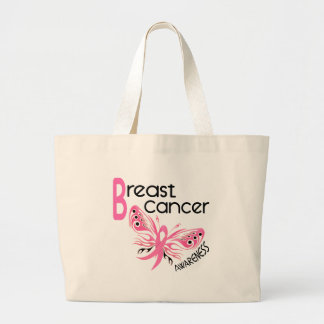 Breast Cancer BUTTERFLY 3.1 Large Tote Bag