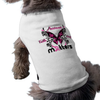 Breast Cancer Butterfly 7 Pet T-shirt