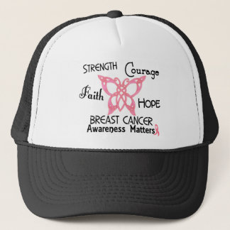 Breast Cancer Celtic Butterfly 3 Trucker Hat