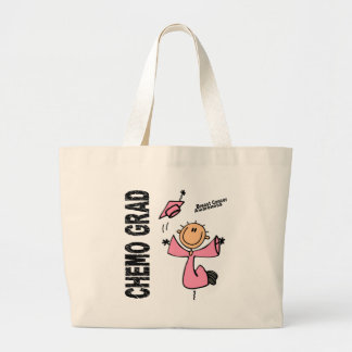 Breast Cancer CHEMO GRAD 1 Large Tote Bag