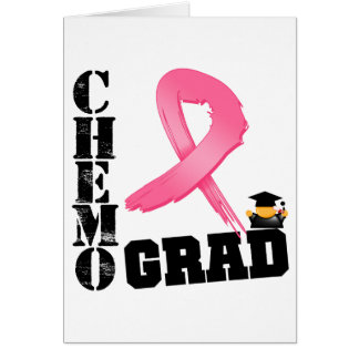 Breast Cancer Chemo Grad Greeting Card