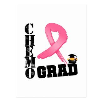 Breast Cancer Chemo Grad Postcard