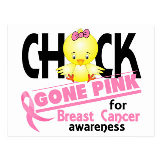 Breast Cancer Chick Gone Pink 2 Post Cards