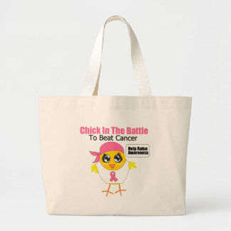 Breast Cancer Chick In the Battle to Beat Cancer Jumbo Tote Bag