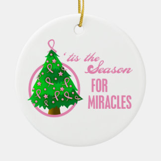 Breast Cancer Christmas Miracles Ornament