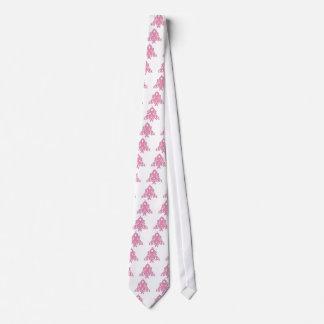 Breast  Cancer Christmas Ribbon Tree Tie