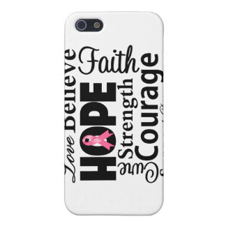Breast Cancer Collage of Hope iPhone 5/5S Cover