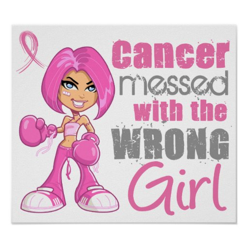 Breast Cancer Combat Girl 1 Posters