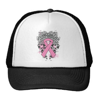 Breast Cancer - Cool Support Awareness Slogan Hats