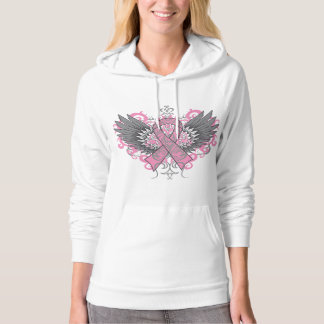 Breast Cancer Cool Wings Hooded Sweatshirts