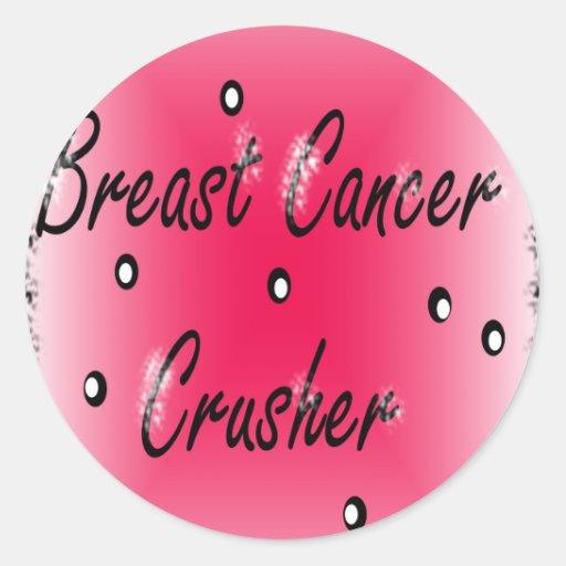 Breast Cancer Crusher Round Sticker