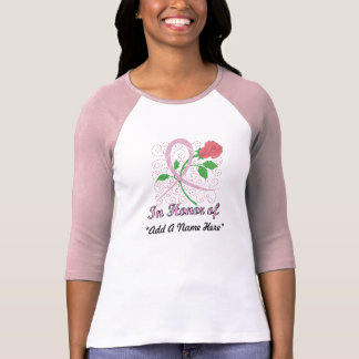 Breast Cancer Customisable 3/4 Sleeve Raglan T-Shirt