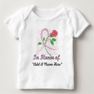 Breast Cancer Customisable Infant Long Sleeve Baby T-Shirt