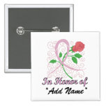 Breast  Cancer Customisable Square Button