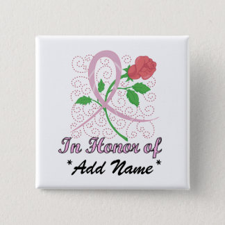 Breast  Cancer Customizable Square Button