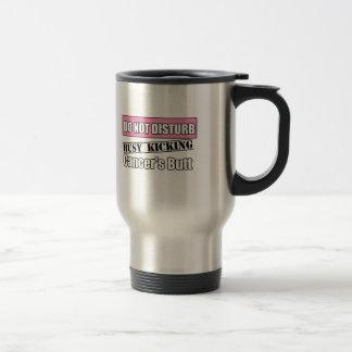 Breast Cancer Do Not Disturb Kicking Butt Stainless Steel Travel Mug