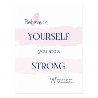 Breast Cancer Encouragement Postcard