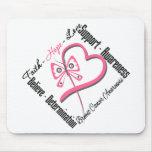 Breast Cancer Faith Hope Love Mouse Pad