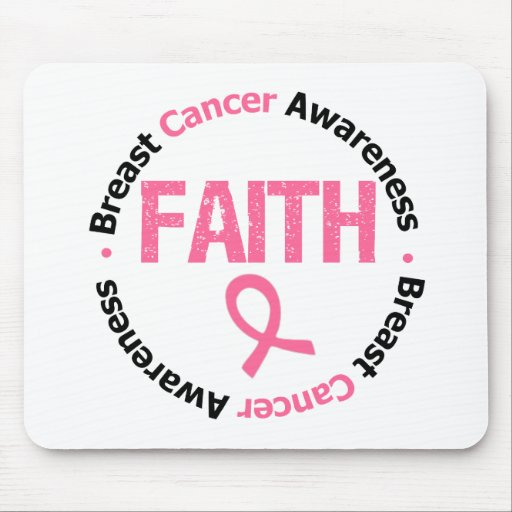 Breast Cancer Faith Mouse Pad