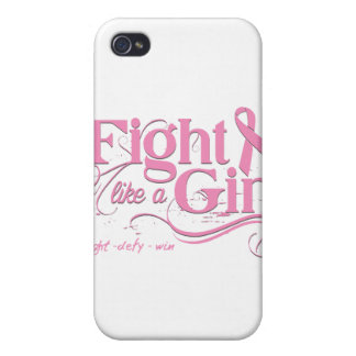 Breast Cancer Fight Like A Girl Elegant Case For iPhone 4