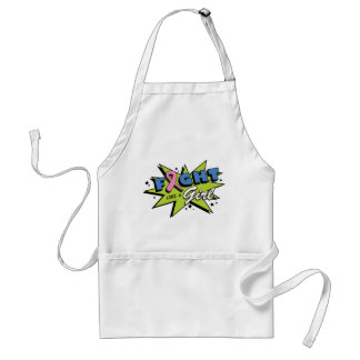 Breast Cancer Fight Like A Girl POW! Standard Apron