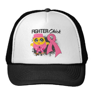 Breast Cancer Fighter Chick Grunge Hats
