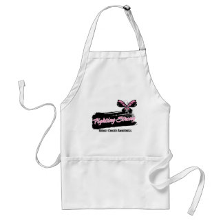 Breast Cancer Fighting Strong Butterfly Adult Apron