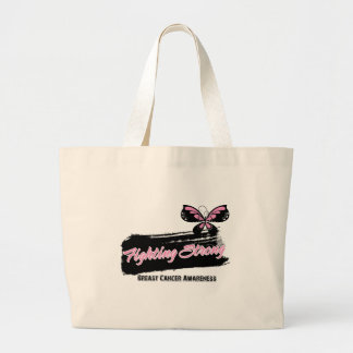 Breast Cancer Fighting Strong Butterfly Canvas Bags