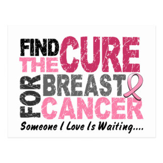 BREAST CANCER Find The Cure 1 Postcard
