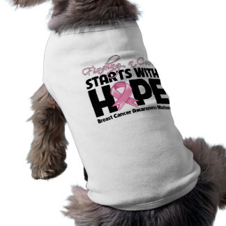Breast Cancer Finding a Cure Starts With Hope Sleeveless Dog Shirt