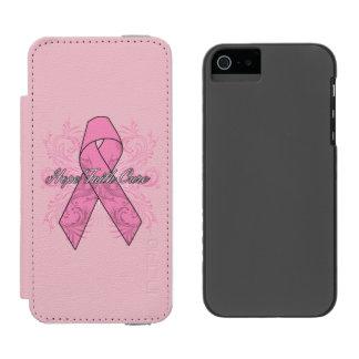 Breast Cancer Flourish Hope Faith Cure Incipio Watson™ iPhone 5 Wallet Case
