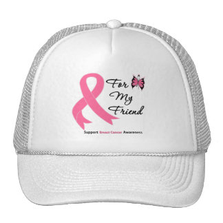 Breast Cancer For My Friend Mesh Hat