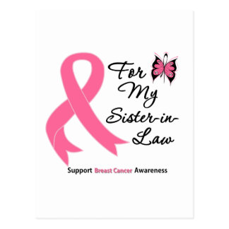 Breast Cancer For My Sister-in-Law Postcard