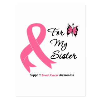 Breast Cancer For My Sister Postcard