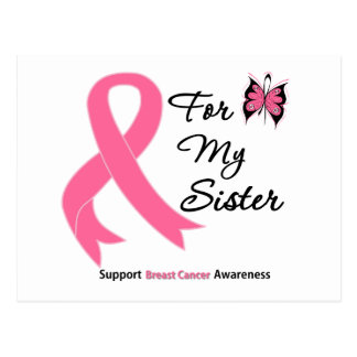 Breast Cancer For My Sister Post Card