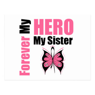 Breast Cancer Forever My Hero My Sister Postcard