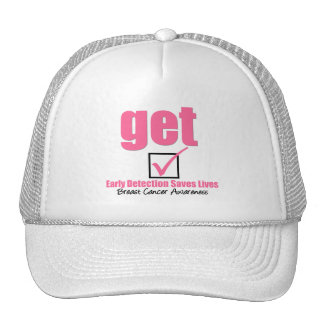 Breast Cancer Get Checked v1 Trucker Hat