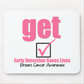 Breast Cancer Get Checked v1 Mousepads