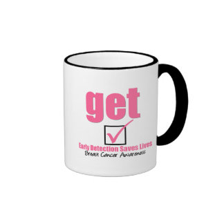 Breast Cancer Get Checked v1 Mugs