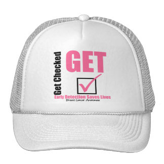 Breast Cancer Get Checked v3 Trucker Hats