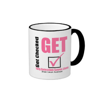 Breast Cancer Get Checked v3 Coffee Mugs