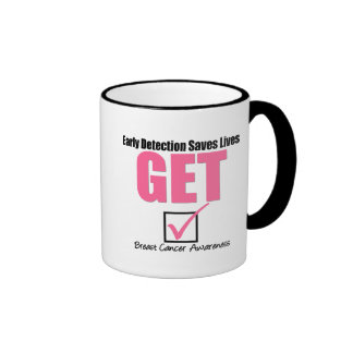 Breast Cancer Get Checked v4 Coffee Mugs