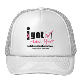 Breast Cancer Get Checked v5 Trucker Hats