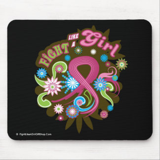 Breast Cancer Groovy Fight Like A Girl Mouse Pad