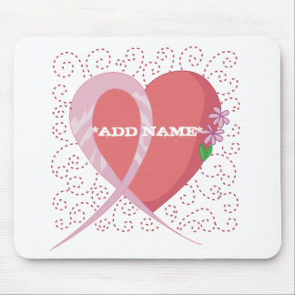 Breast Cancer Heart Customisable Mousepad