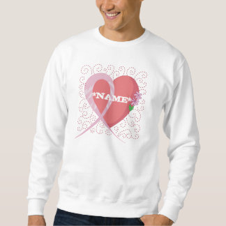 Breast Cancer Heart Customized Sweatshirt