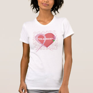 Breast Cancer Heart Customized Tank Top