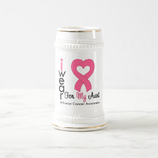 Breast Cancer Heart Ribbon For My Aunt Coffee Mug