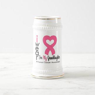 Breast Cancer Heart Ribbon For My Granddaughter Mug