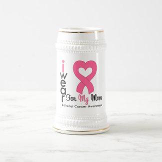 Breast Cancer Heart Ribbon For My Mom Coffee Mug